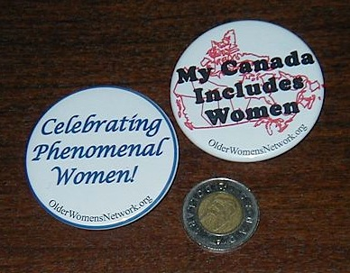 Two OWN buttons with toonie