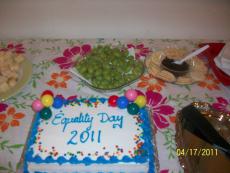 Cake says Equality Day 2011